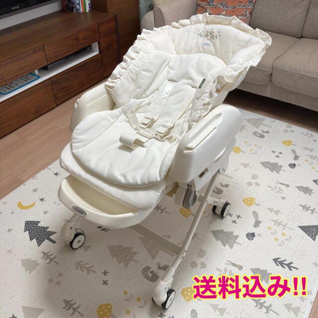 combi(コンビ)のコンビ ハイローラック オートスイング キッズ/ベビー/マタニティの寝具/家具(ベビーベッド)の商品写真
