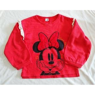 Disney - ディズニー ミニーマウス 長袖 薄手 トレーナー  120