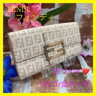 フェンディ(FENDI)の【正規品 人気】❤️キレイ FENDI  フェンディ F 金メッキ 花柄 可愛い(財布)