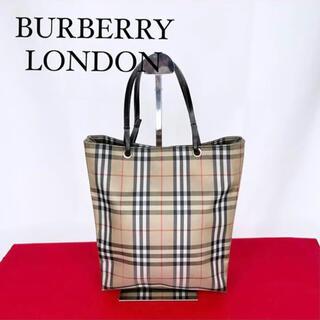 BURBERRY - BURBERRY LONDON バーバリーロンドン ハンドバッグ 茶 M102