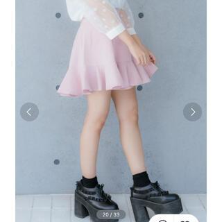 ロジータ(ROJITA)のロジータ 裾フレア切替SK ピンク(ミニスカート)