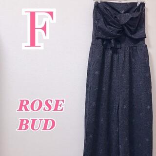 ローズバッド(ROSE BUD)のROSE BUD ローズバッド オールインワン ブラック ベアトップ 星柄 秋冬(オールインワン)