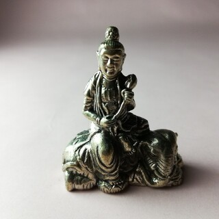 神様ミニメタル仏像 普賢菩薩 ゴールドカラー(彫刻/オブジェ)