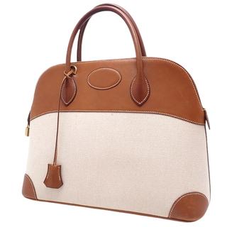 エルメス(Hermes)のエルメス ボリード35 フォーブ ブラウン茶 アイボリー 40802004708(ハンドバッグ)