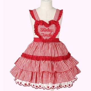 Shirley Temple - シャーリーテンプル ハートの胸当て ジャンパースカート ワンピース