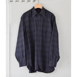 COMOLI - comoli 21aw ウールシルクチェックワークシャツ