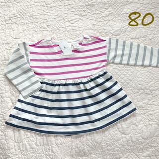 ベビーギャップ(babyGAP)の長袖 80 女の子 ベビーギャップ ❤︎ プティマイン ザラ 無印良品 ユニクロ(シャツ/カットソー)