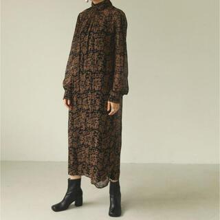 TODAYFUL - todayful georgette leaf dress 36