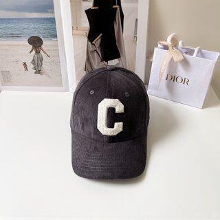 celine - CELINE  ベルベットのc字帽子