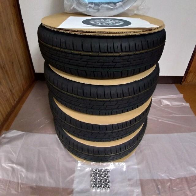 BRIDGESTONE(ブリヂストン)の美品・未使用品ブリヂストン155/65R14タイヤホイール4本セット 自動車/バイクの自動車(タイヤ・ホイールセット)の商品写真