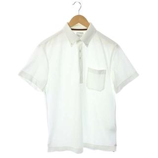 ポールスミス(Paul Smith)のポールスミス PAUL SMITH ポロシャツ 半袖  ボタンダウン L 白(ポロシャツ)