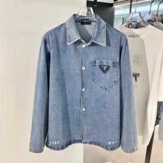 プラダ(PRADA)の【PRADA】オーガニックデニムシャツ ジャケット(シャツ)