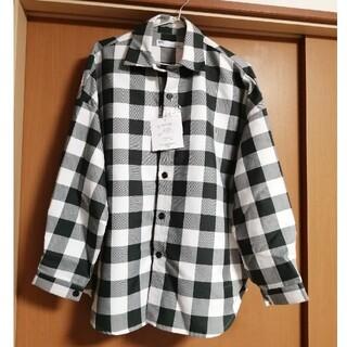アベイル(Avail)の新品☆ブロックチェックオーバーサイズシャツ グリーン 緑 メンズMサイズ(シャツ)