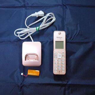 パナソニック(Panasonic)のパナソニック KX-FKD508-N ピンク 子機 充電器 バッテリー セット(その他)
