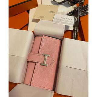 Hermes - 新品今週購入❣️正規エルメスベアン4連キーケースリングローズさくら🌸🌸