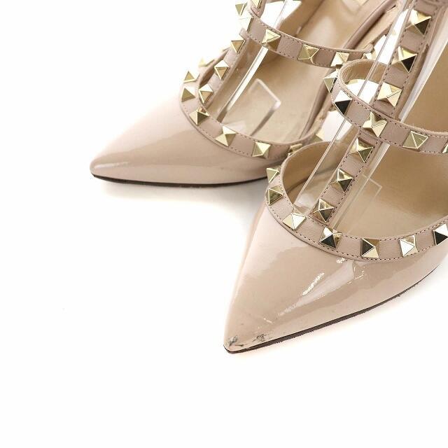valentino garavani(ヴァレンティノガラヴァーニ)のヴァレンティノ ガラヴァーニ サンダル ハイヒール ロックスタッズ 37 レディースの靴/シューズ(サンダル)の商品写真
