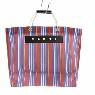 Marni - マルニ ショッピングバッグ フラワーカフェ ハンドバッグ トートバッグ 茶