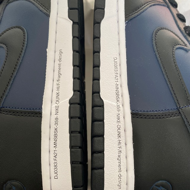 NIKE(ナイキ)のnike dunkhigh×fragment ダンクハイ フラグメント メンズの靴/シューズ(スニーカー)の商品写真