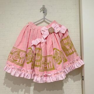 アンジェリックプリティー(Angelic Pretty)のアンジェリックプリティ スカート 別珍 ラッピングリボン(ひざ丈スカート)
