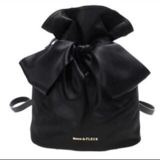 Maison de FLEUR - Maison de FLEUR メゾンドフルール 巾着リボンリュック ブラック