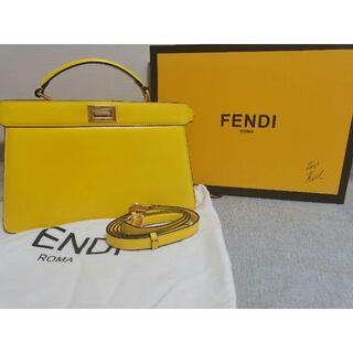 FENDI - 美品 FENDI フェンディイエローレザー バッグ