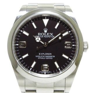 ロレックス(ROLEX)のロレックス 腕時計 エクスプローラー1 黒(その他)