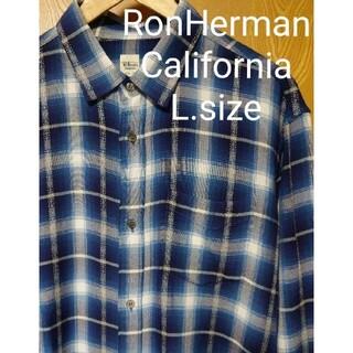Ron Herman - 定価3.3万 Ron Herman ロンハーマン レーヨン チェック シャツ L