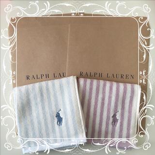 Ralph Lauren - ラルフローレン ミニタオル ハンカチ 2枚セット ⑫