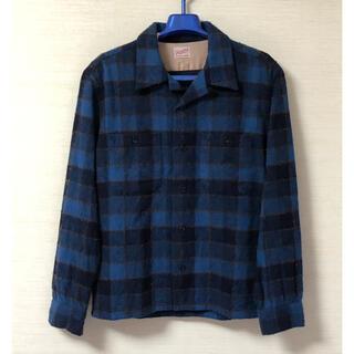 テンダーロイン(TENDERLOIN)のテンダーロイン WOOL SHT WP ウール チェックシャツ ブルー(シャツ)