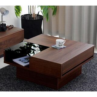 センターテーブル ローテーブル リビングテーブル 日本製 ブラウン 75×75(ローテーブル)