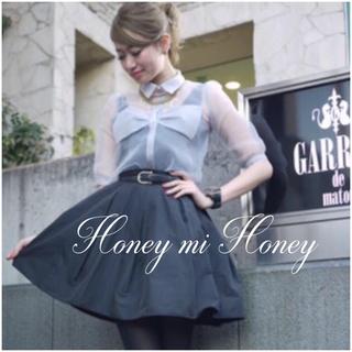 Honey mi Honey - HONEY MI HONEY リボン オーガンジー ブラウス*ミークチュール