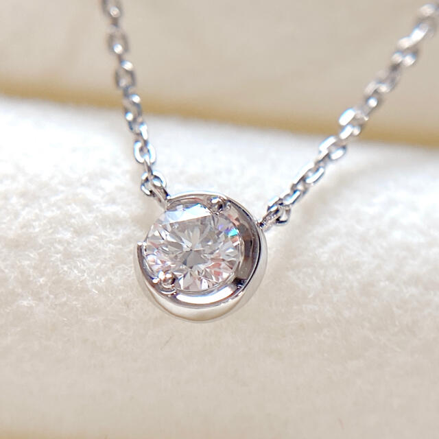 STAR JEWELRY(スタージュエリー)のスタージュエリー  ムーンセッティング ダイヤモンド ネックレス プラチナ レディースのアクセサリー(ネックレス)の商品写真