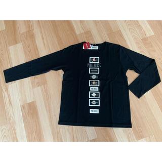 ピンクハウス(PINK HOUSE)のPINK HOUSE ワッペン長袖シャツ 黒(Tシャツ(長袖/七分))