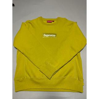 Supreme - supreme box logo crewneck mustard