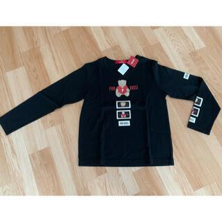 ピンクハウス(PINK HOUSE)のPINKHOUSE くまさん柄長袖シャツ 黒(Tシャツ(長袖/七分))