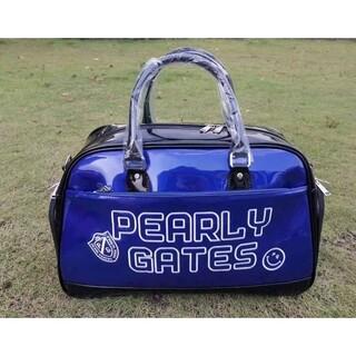 パーリーゲイツ(PEARLY GATES)のパーリーゲイツ ゴルフ衣類用ボストンバッグ エナメル ブルー(バッグ)