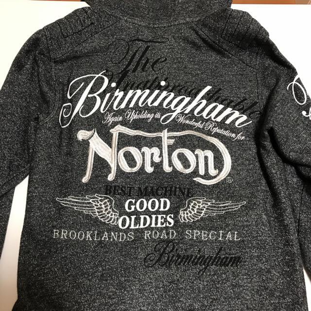 Norton(ノートン)のNorton  ノートン メンズパーカー  刺繍 ビッグロゴ  杢グレー メンズのトップス(パーカー)の商品写真
