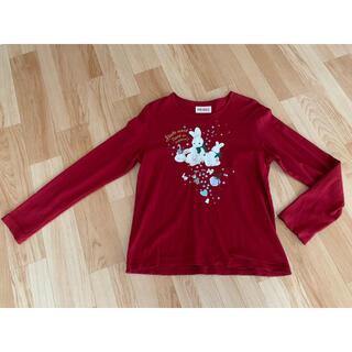 ピンクハウス(PINK HOUSE)のPINK HOUSE うさぎ柄長袖シャツ 赤(Tシャツ(長袖/七分))