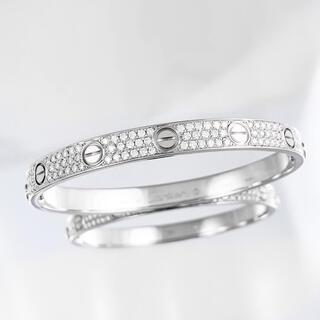Cartier - 【保証書付】カルティエ ラブブレス WG ダイヤ 17 ブレス ブレスレット