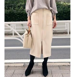 Noble - 美品 ノーブル TWダブルクロスフープジップタイトスカート