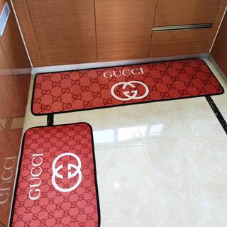 洗える キッチンマット バスマット 玄関マット 2点セット C6