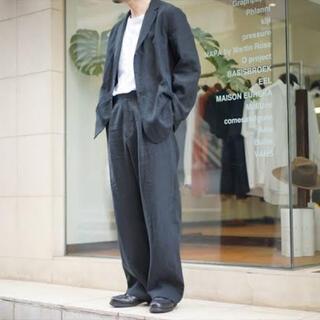コモリ(COMOLI)のAURALEE 2019aw washed linen jacket black(テーラードジャケット)