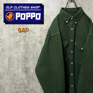ギャップ(GAP)のオールドギャップGAP☆カナダ製フラップダブルポケットビッグワークシャツ 90s(シャツ)