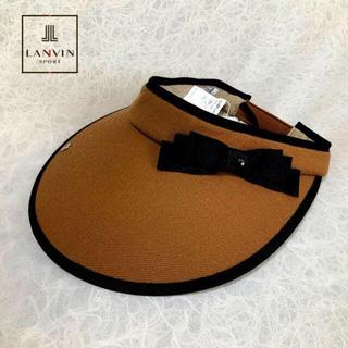 ランバン(LANVIN)のLANVINSPORT ランバン 秋冬 UV ツバ広サンバイザー(brown)(ウエア)