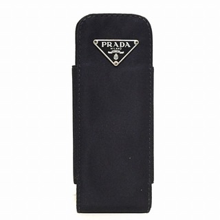 プラダ(PRADA)のプラダ 携帯電話ケース - 黒 ナイロン(モバイルケース/カバー)