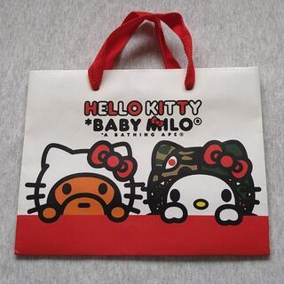 A BATHING APE - HELLO KITTY& BABYMIROコラボ紙袋 小 BAPE(エイプ)