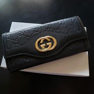 Gucci - GUCCI2つ折り長財布(美品)