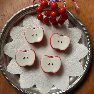 可愛い りんご リンゴのカトラリーレスト/箸置き 4個セット