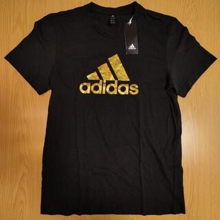 adidas - 【定価3289円 GH778】(M 黒 ロゴ金) adidas Tシャツ