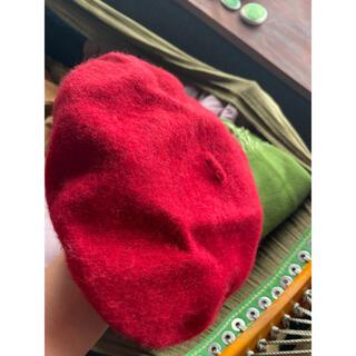 ザラ(ZARA)のzara ベレー帽 赤(ハンチング/ベレー帽)
